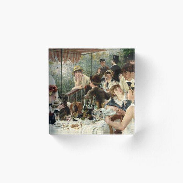 Vintage Pierre Renoir  Lunchen Boating Party 1881 Fine Art Acrylic Block