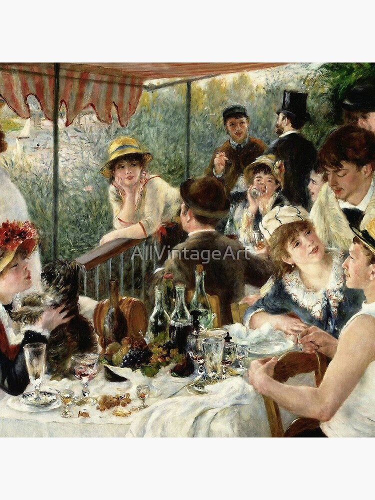 Vintage Pierre Renoir  Lunchen Boating Party 1881 Fine Art by AllVintageArt