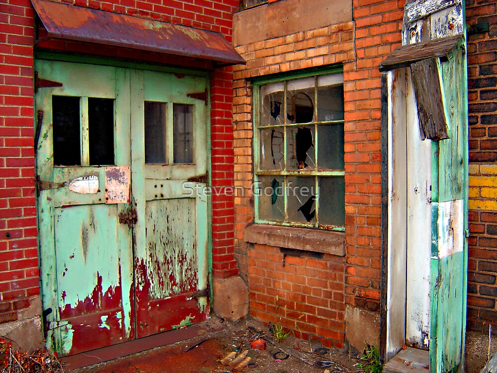 Steel Mill Door-Window-Box by Steven Godfrey