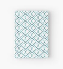 Turquoise watercolor pattern with hand painted squares Hardcover Journal