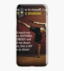 Strong Woman - Martial Arts Inspiration iPhone Case/Skin