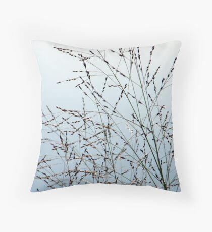 Grasses in the Sky Throw Pillow