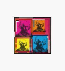 ALBERT EINSTEIN, ANDY WARHOL-STYLE 4-UP COLLAGE ILLUSTRATION Art Board