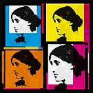 VIRGINIA WOOLF - ANDY WARHOL-STYLE 4-UP COLLAGE ILLUSTRATION by Clifford Hayes