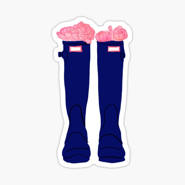 Rain Boots with Flowers Sticker