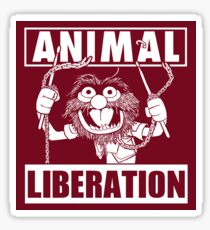 Animal Liberation - funny (red) Sticker