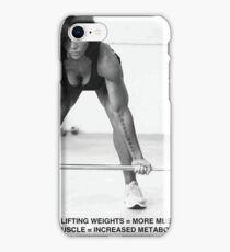 Weight Lifting Infographic For Women iPhone Case/Skin
