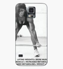 Weight Lifting Infographic For Women Case/Skin for Samsung Galaxy