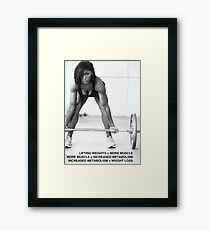 Weight Lifting Infographic For Women Framed Print