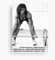 Weight Lifting Infographic For Women Canvas Print