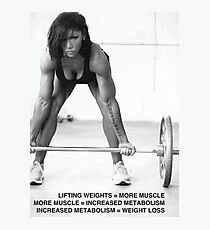 Weight Lifting Infographic For Women Photographic Print