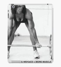 Weight Lifting Infographic For Women iPad Case/Skin