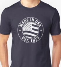 Made In USA EST. 1973 - 44 Years Old 44th Birthday Gift Unisex T-Shirt