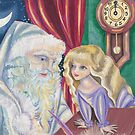 Santa Claus And The Girl by AngelArtiste