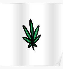 cannabis (marijuana leaf) Poster