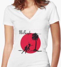 Mr. Faith Women's Fitted V-Neck T-Shirt