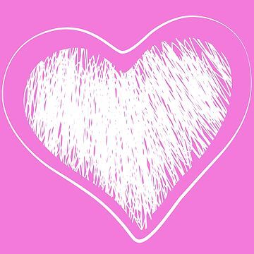 White hearts on a pink background by tonydew