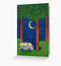 Journey to Glen Esk: Night (rectangle version) Greeting Card