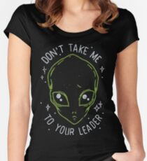 The Flash (Cisco's shirt) - Don't Take Me To Your Leader Women's Fitted Scoop T-Shirt