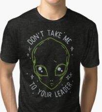 The Flash (Cisco's shirt) - Don't Take Me To Your Leader Tri-blend T-Shirt