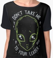 The Flash (Cisco's shirt) - Don't Take Me To Your Leader Women's Chiffon Top