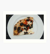 A Slice of Black Olive Pizza Art Print