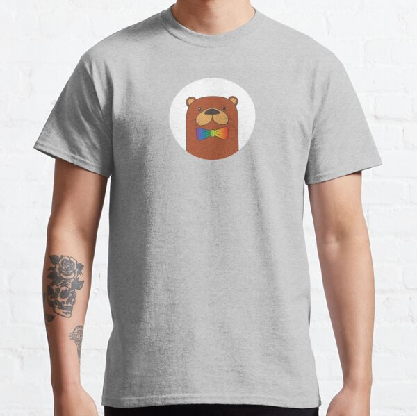 Gay Otter Pride LGBT Rainbow Bow Tie Classic T-Shirt