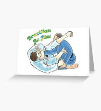 Brazilian Jiu Jitsu - Armbar Greeting Card