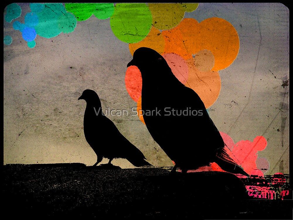 Pigeon Silhoutte by Vulcan Spark Studios