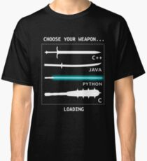 Funny Computer Science Shirt-Java C++ Python C Programmer Weapons for Women Men Classic T-Shirt