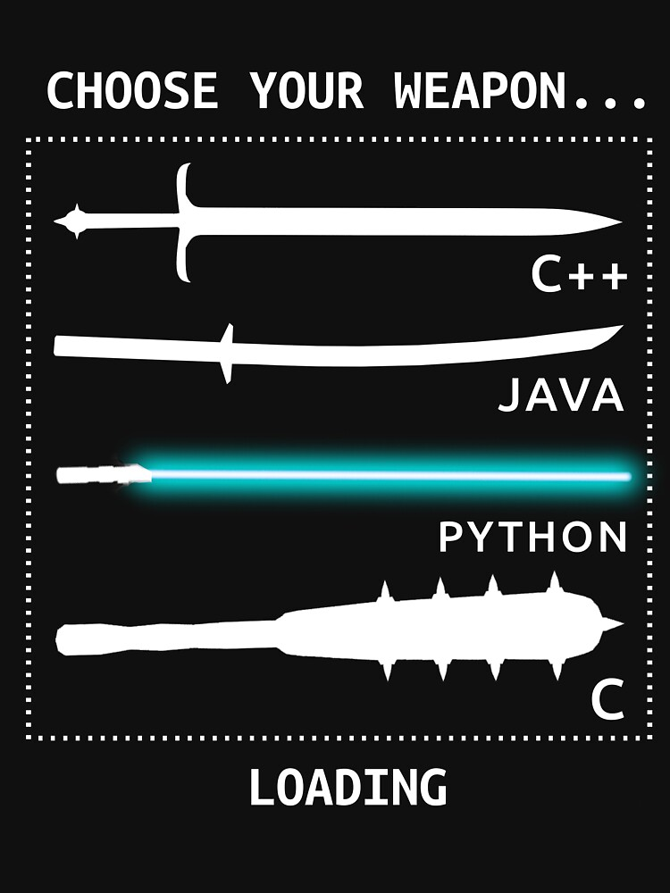 Funny Computer Science Shirt-Java C++ Python C Programmer Weapons for Women Men by Anna0908