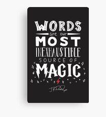 JK Rowling Magic Quote Canvas Print