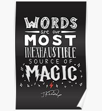 JK Rowling Magic Quote Poster