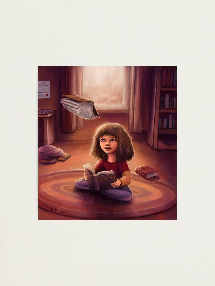 Alternate view of Little Bookworm Photographic Print