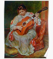 Vintage Pierre Renoir Joueuse De Guitare 1897 Fine Art Poster