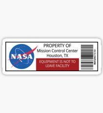NASA Property Sticker