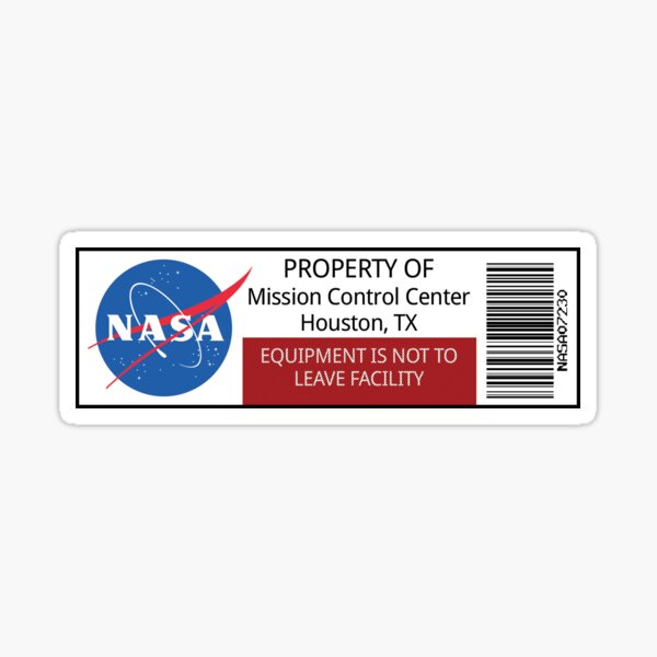 NASA Property Sticker