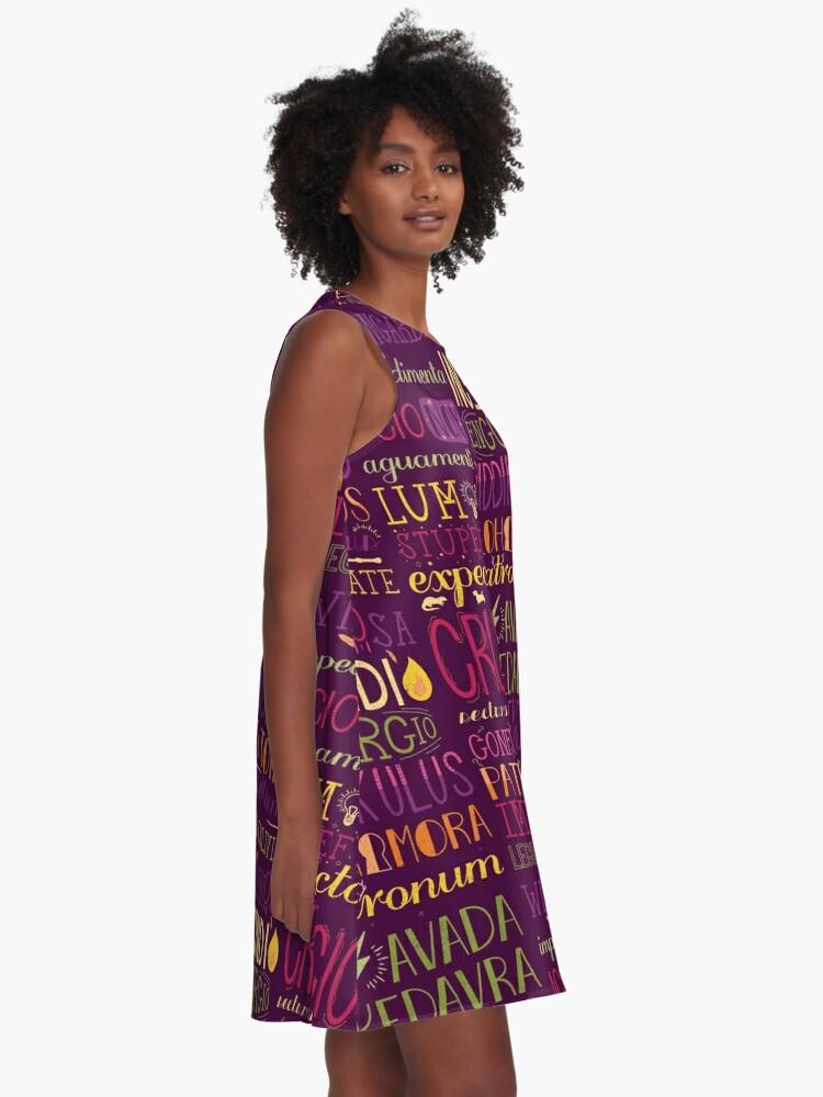 Alternative Ansicht von Zaubersprüche A-Linien Kleid
