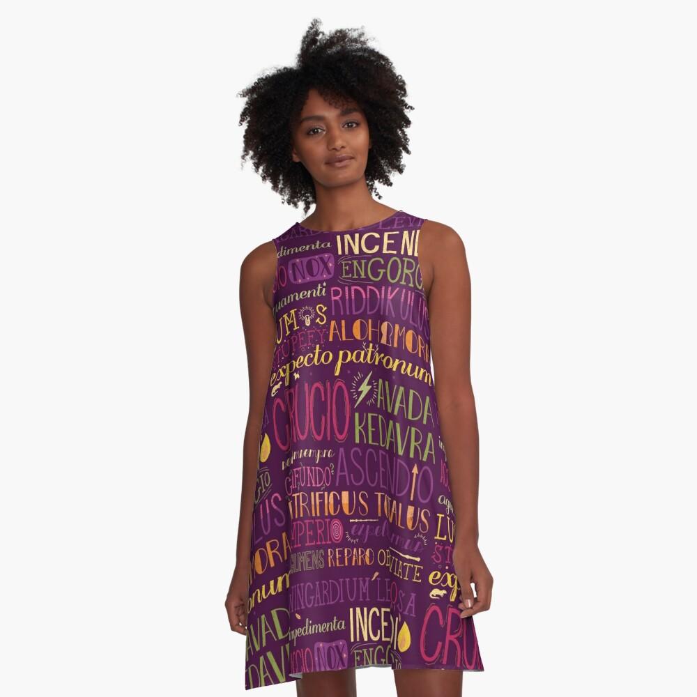 Zaubersprüche A-Linien Kleid