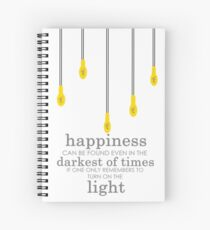 happiness // albus dumbledore Spiral Notebook
