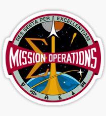 NASA Houston Mission Control Center Emblem Sticker
