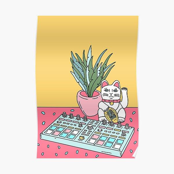Sad cat pad Poster