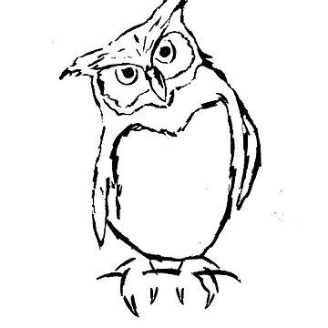Owl Sketch by cmcewan