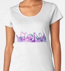 Orlando Theme Park Inspired Watercolor Skyline Silhouette Women's Premium T-Shirt