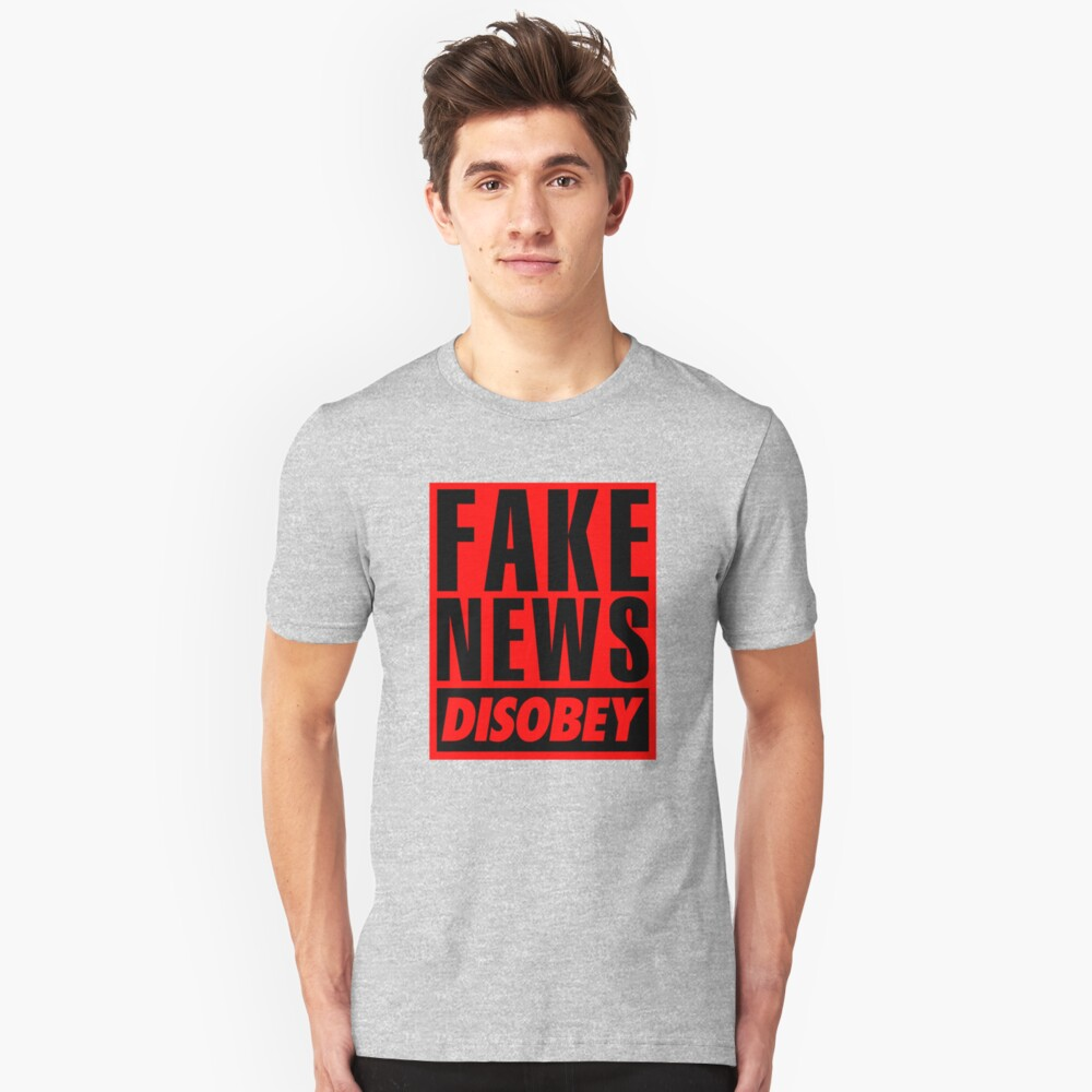 FAKE NEWS - DISOBEY Slim Fit T-Shirt