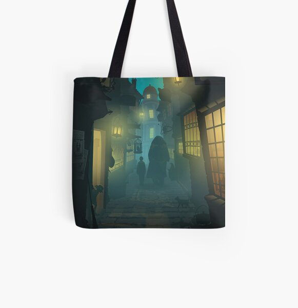 Diagon Alley All Over Print Tote Bag