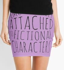 emotionally attached to fictional characters #black Mini Skirt