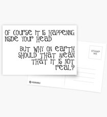 of course it is happening inside your head Postcards