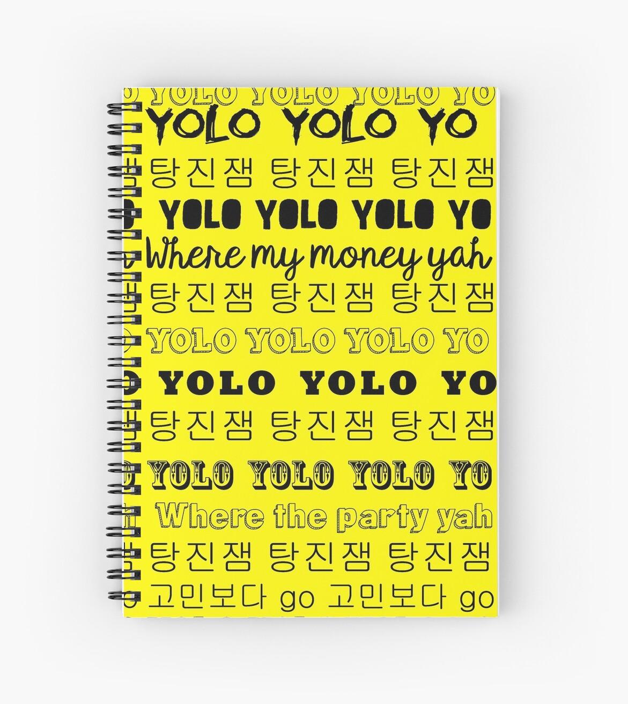 Bts Go Go Lyrics V 1 Spiral Notebooks By Jinsdadjokes Redbubble