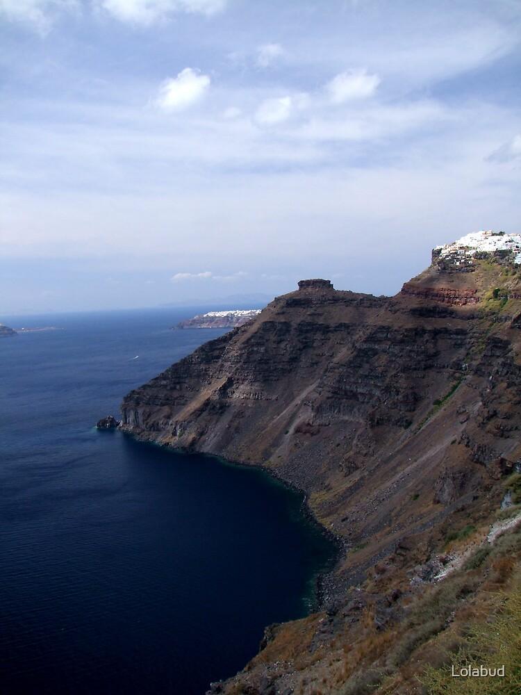 Cliffs of Santorini by Lolabud